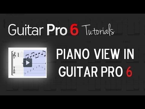 Chap. 6 - 4 Know more about the Piano view in Guitar Pro 6