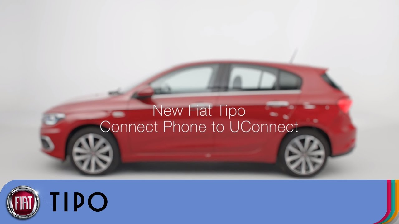 fiat tipo how to pair your smartphone to uconnect fiat uk youtube. Black Bedroom Furniture Sets. Home Design Ideas