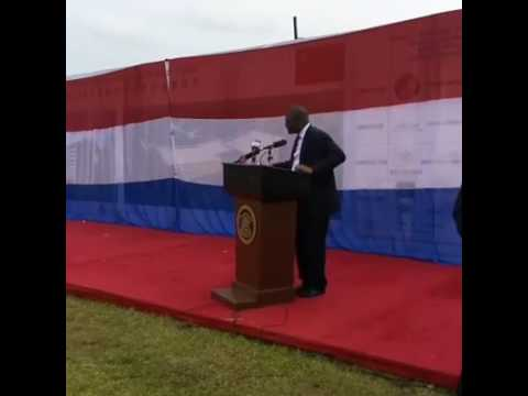 Groundbreaking ceremony of the Robert international Airport runways and terminal