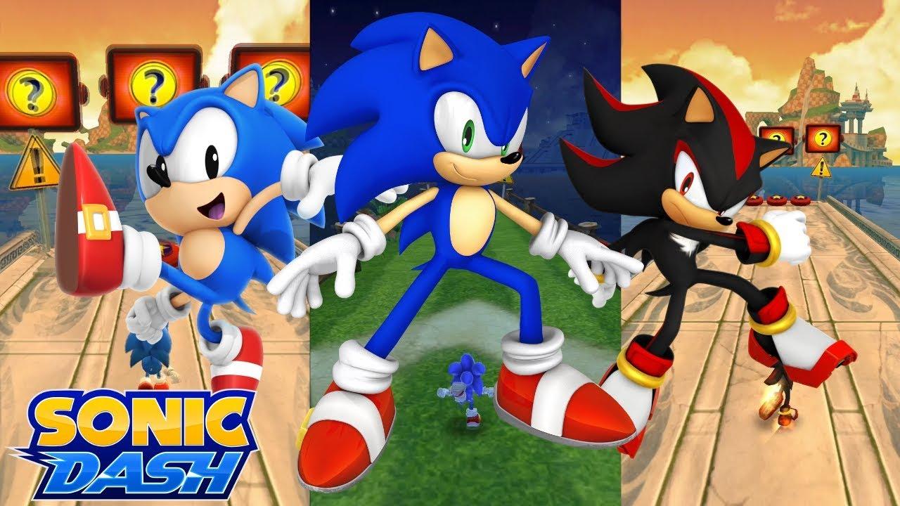 Sonic Dash Ios Sonic Vs Classic Sonic Vs Shadow Youtube