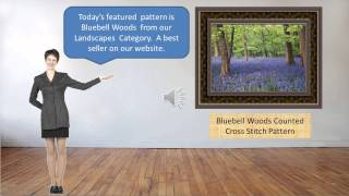 Landscape & Nature Cross Stitch Patterns - Bluebell Woods