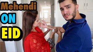 My MOM put MEHENDI on me on EID!