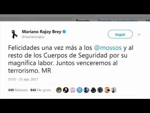 """Rajoy felicita la """"magnífica labor"""" de los Mossos tras abatir a Abouyaaqoub"""