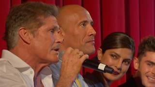 German Premiere Q Baywatch (Dwayne Johnson, Zac Efron, Kelly Rohrbach...) (Official Video )