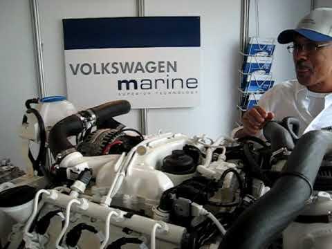 Diesel Engine Working >> New VW Marine TDI 350-8 engine running, coin on top. - YouTube