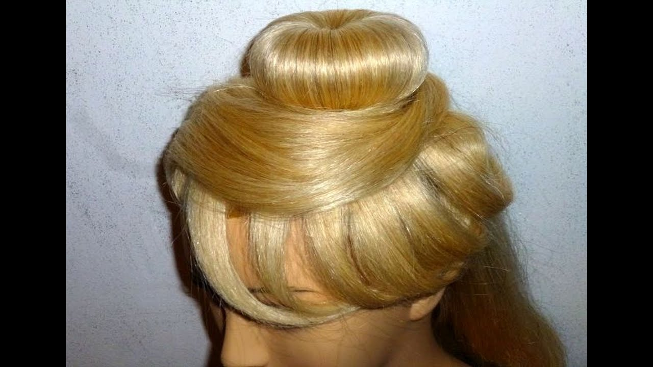 Hairstyles With Donut Bun: Easy & Quick Prom/Wedding Hairstyle. Donut Hair Bun Updo
