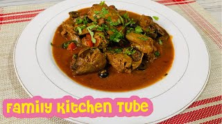Chicken liver recipe with black olive.. easy recipe for family