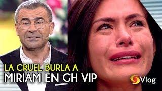 La cruel burla de Jorge Javier Vázquez a Miriam en GH VIP de telecinco