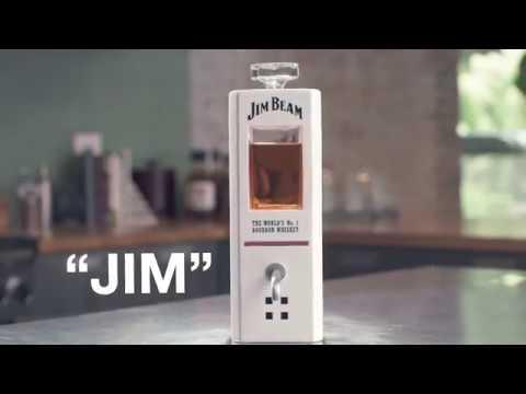 Jim Beam  JIM, The Worlds First Intelligent Bourbon Decanter