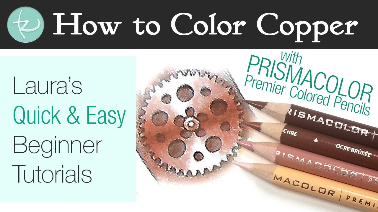 - How To Color Copper Metal With Prismacolor Colored Pencils! Quick