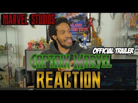 Marvel Studios Captain Marvel Official Trailer Reaction