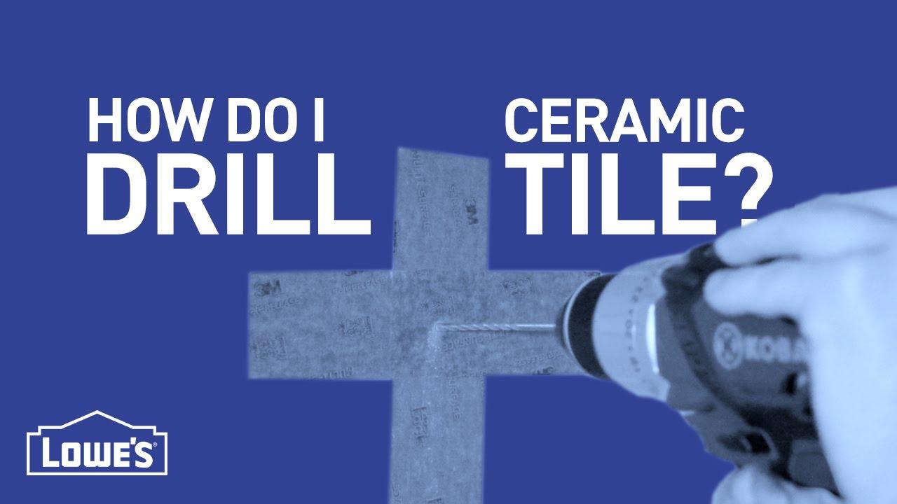How do i drill ceramic tile diy basics youtube how do i drill ceramic tile diy basics dailygadgetfo Images
