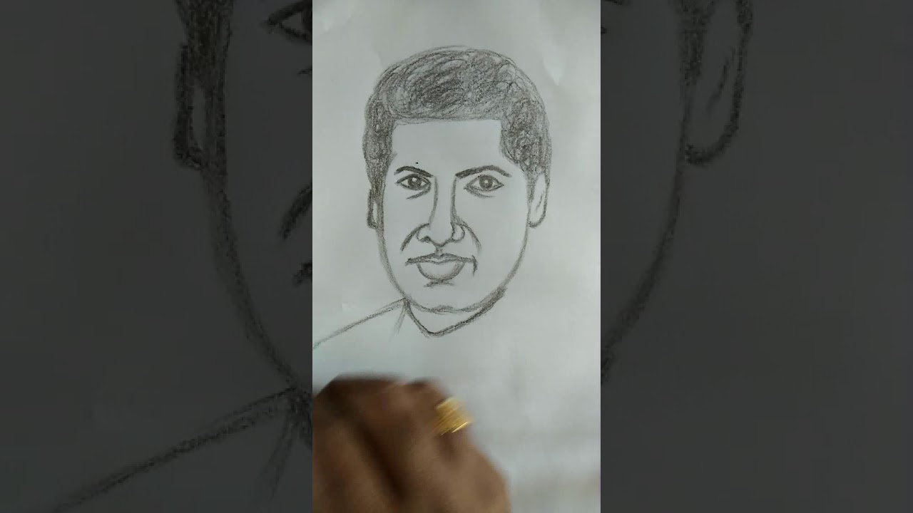 Srinivasa ramanujan drawing by shreedhar