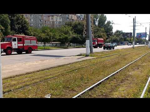 5x firetrucks returns to FD after call