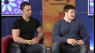 Чемпионы Андрей Караськин и Роман Назарчук в Утреннем коктейле