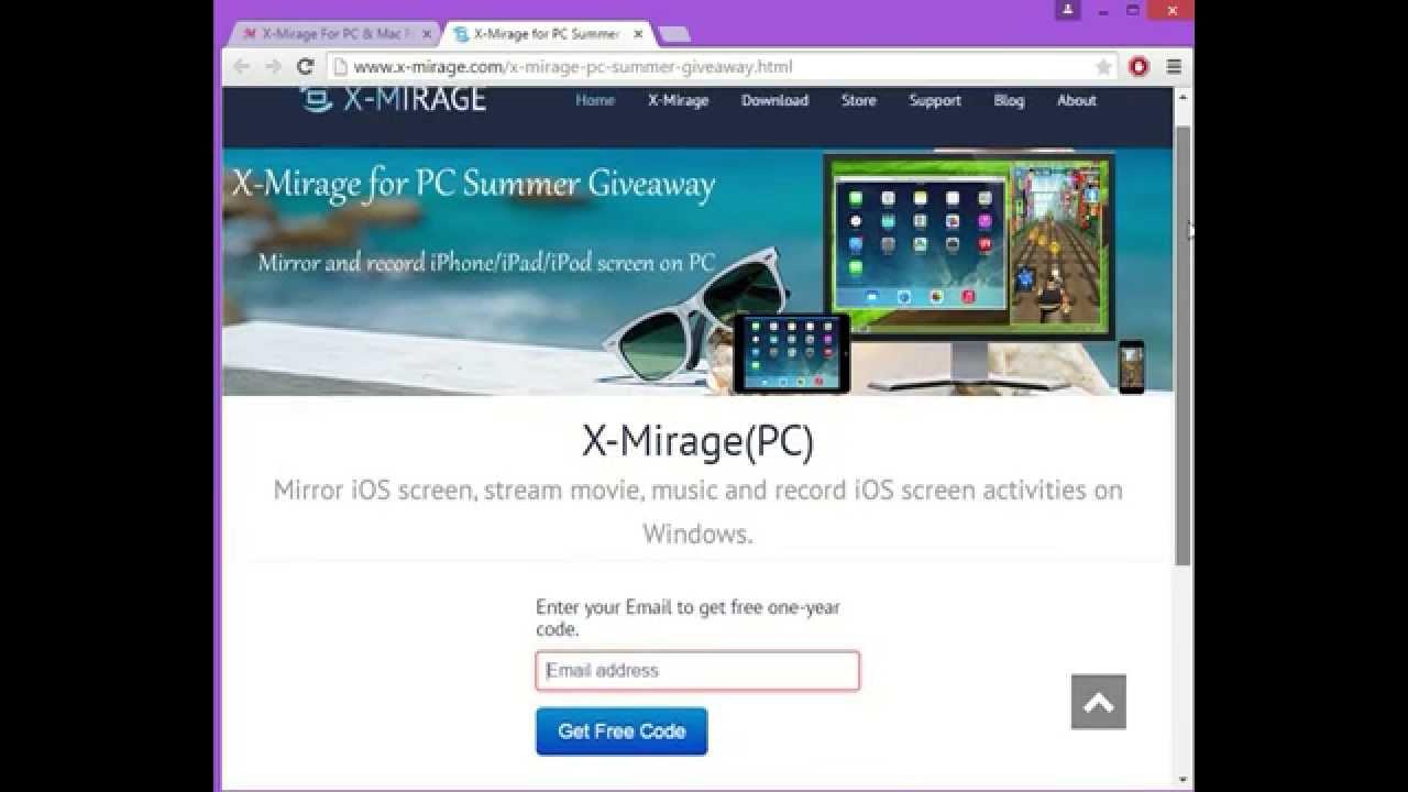 X mirage giveaway