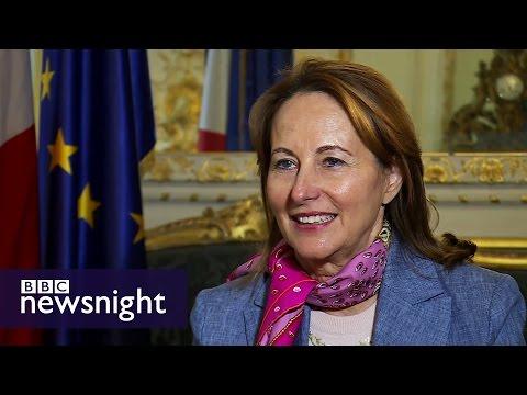 Segolene Royal: I voted Emmanuel Macron in both rounds of French election - BBC Newsnight
