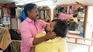 ASMR Tea Stall Barbershop Head Massage