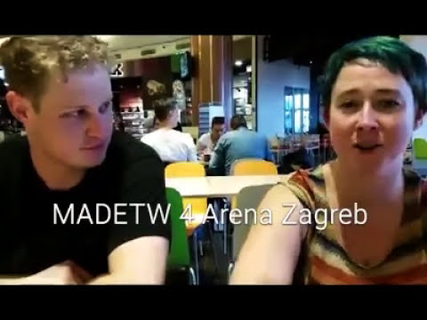 Maddy and David Eat the World Ep 4 - Arena Zagrab