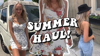 MASSIVE SUMMER TRY ON HAUL! (Urban Outfitters, The Reformation, Aritzia, H&M…)