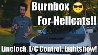 Review: Burnbox Dodge Charger/Challenger Hellcat! Strobes/Light Show Line Lock Intercooler Control!