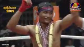 ឯម ឡេងលី Em Lengly Vs (Thai) Jeck Siam, 28/December/2018, BayonTV Boxing