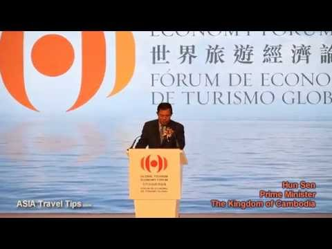 Hun Sen Prime Minister of Cambodia at Global Tourism Economy Forum in Macau - HD
