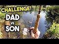 FISHING CHALLENGE - DAD vs SON Fishing Battle