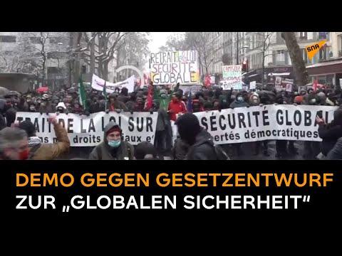 Paris: Demo gegen Globales Sicherheitsgesetz