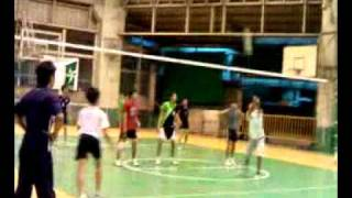 rizal high school vs la salle greenhills volleyball game