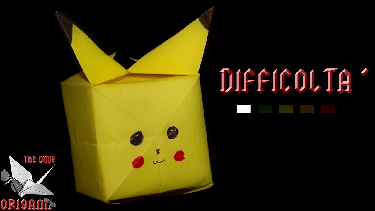 how to make a origami pokemon ball