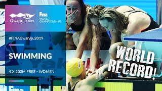 Swimming Women - 4 x 200m Free Relay | Top Moments | FINA World Championships 2019 - Gwangju
