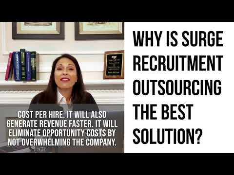 Why is surge recruitment outsourcing the best solution?