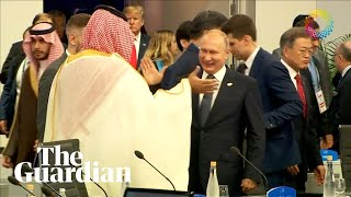 Putin and Saudi crown prince high-five at G20 summit