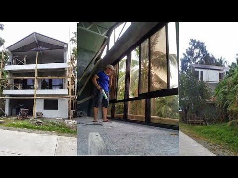 Building a house in Southern Leyte Philippines part 26. Render, Paint and Windows.