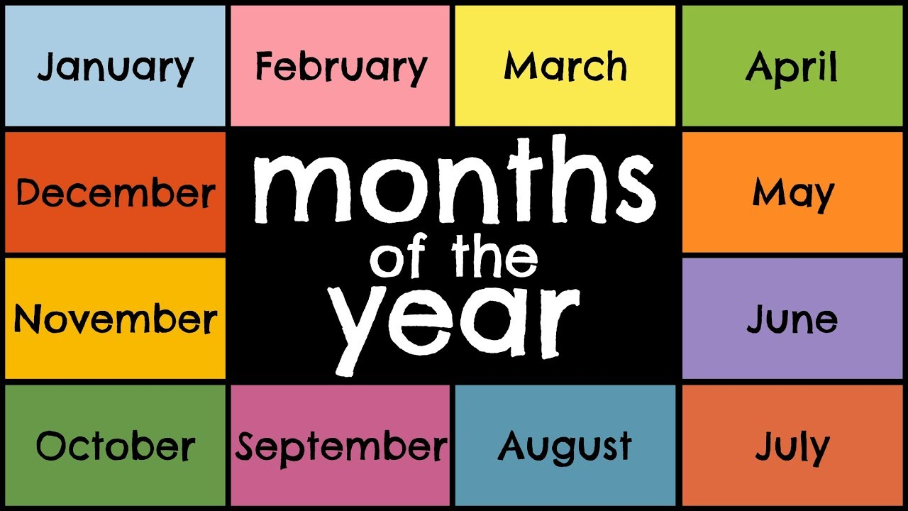 The Months Of The Year Song Youtube