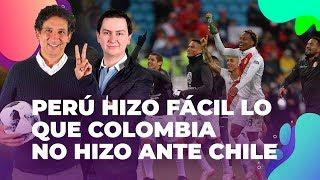 Perú hizo fácil lo que Colombia no hizo ante Chile