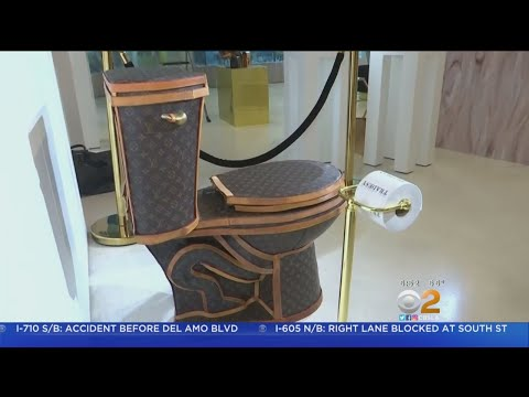 $100K Louis Vuitton Toilet On Display In Santa Monica