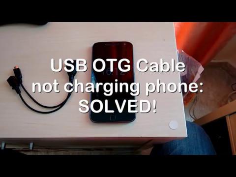 USB OTG cable not charging phone FIX!