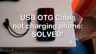 USB OTG cable not charging phone FIX!