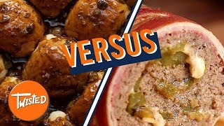 Which Would You Choose: Bacon Wrapped Cheesesteak Meatloaf Vs Philly French Dip Sliders   Twisted