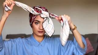 Unique Turban Style | Square Scarf | طريقه مميزه للف المنديل المربع