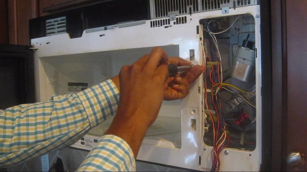 fix microwave starts when door open fix door switch