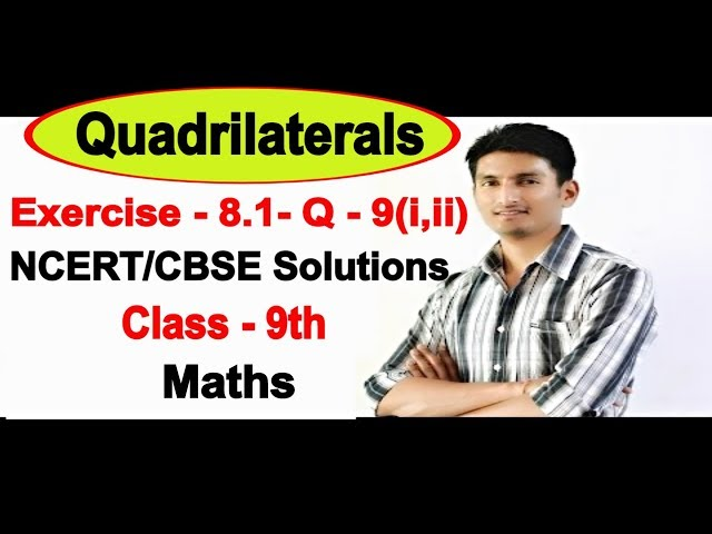 Chapter 8 Exercise 8.1 Question 9(i,ii) - Quadrilaterals Class 9 Maths - NCERT Solutions