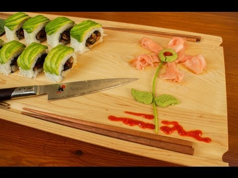 Pickled Ginger and Wasabi Garnish Art for Sushi Food Plates