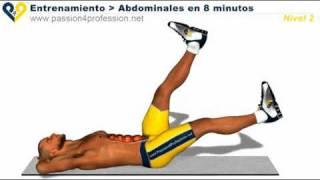 Abdominales en 8 minutos nivel 2