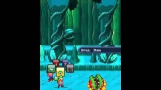 Mario & Luigi - Partners in Time [Boss 6] Petey Piranha (NO DAMAGE)