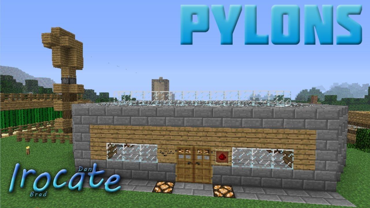 Minecraft Pylons No Redstone Wires Youtube Wiring For Dummies