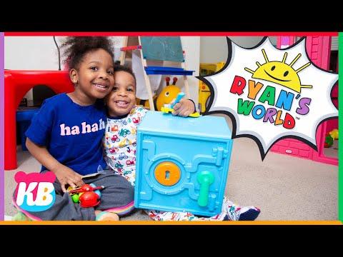 Kyraboo Cracks Ryans World Super Surprise Safe | Police Dad Pretend Play