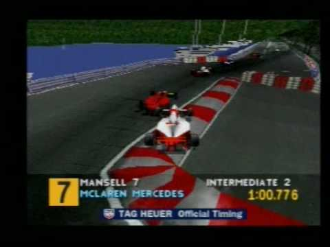 Playstation Ps1 F1 Formula 1 1995 Monaco Mclaren 4 Youtube